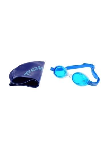 adidas adidas Sw Kids Pack Bone ve Yüzücü Gözlüğü Mavi